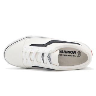 回力(Warrior) 休闲男士低帮女款潮流轻便白潮帆布鞋 WXY-A202 白黑 43
