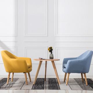 洛克菲勒 北欧单人懒人沙发 阳台小户型 迷你现代简约沙发个性休闲卧室房椅 单人青绿色