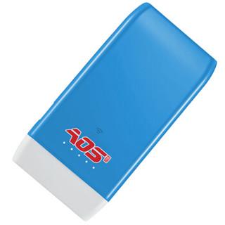 傲石(AOS)无线路由云电盘 MW010 (蓝色)iDisk 64G (附移动电源、Wifi存储、路由器等功能)