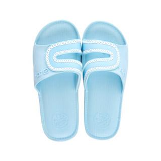 回力拖鞋男女款情侣凉拖居家浴室户外沙滩耐磨防水潮流时尚简约 纯色经典款HL088一2浅蓝色39码