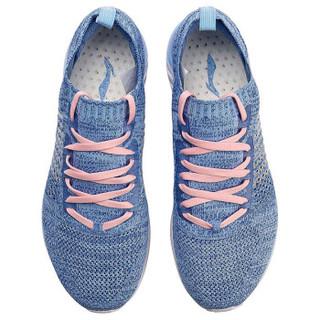 LI-NING 李宁 超轻十五女子一体织减震轻质跑鞋ARBN016-5 蓝 35.5