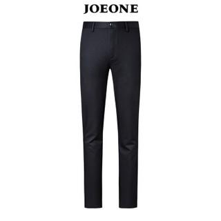 九牧王(JOEONE)休闲裤 男士2018年秋季新款商务休闲男裤185/104C黑色JB185044T