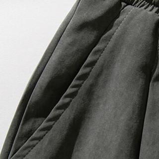 金盾 KIN DON 休闲裤男士 2019春夏新品青年男装宽松休闲九分哈伦长裤子 688 黑色 2XL+T恤x1