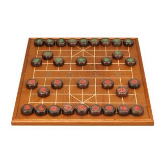 御圣象棋 黑酸枝实木象棋折叠棋盘 6分中国象棋套装