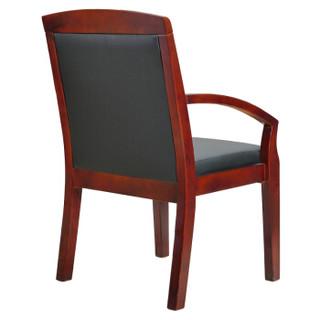 奈高实木会议椅总裁老板职员办公麻将椅子电脑人体工学皮艺班前椅-OH6
