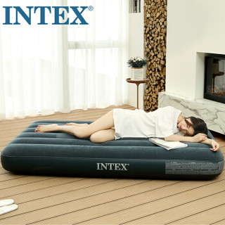 INTEX 2019年新款64734充气床垫 露营气垫床 户外防潮垫 家用空气床午休躺椅双人折叠床152*203*25cm