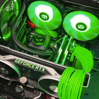 雷霆世纪 Greenlight 957 i9-9900K/RTX2080公版/技嘉Z390/幻光戟8G*2/500G+27英寸144Hz电竞曲面显示器