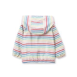 Gap旗舰店 童装女幼 印花针织衬里外套402686 彩色条纹 4YRS