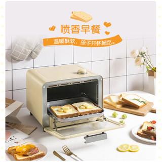 小熊 Bear  电烤箱 多功能家用迷你小型烘焙蒸汽烤箱15L烘烤蛋糕面包饼干机 DKX-A15J1