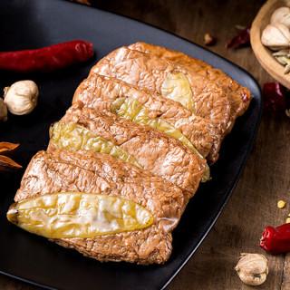 胡婆婆手撕素肉开袋即食豆制品素食豆干豆皮小包装辣条豆腐干泡椒味 200g