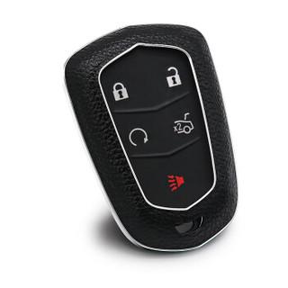 赛邦 SAIBON 凯迪拉克钥匙包 SRX XTS CTS ATS ATS-L 专用真皮钥匙套 男女适用 汽车用品