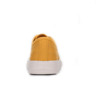 CAMEL 骆驼 女士 简约休闲车缝线平底帆布鞋 A91228604 姜黄 37