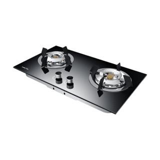 迅达(XUNDA) 燃气灶双灶嵌入式煤气灶灶具 钢化玻璃液化气双灶猛火灶 新款2-NB8316B 圆形按钮 液化气