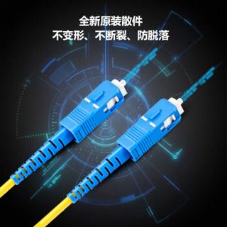博扬(BOYANG)BY-101S 电信级光纤跳线尾纤 1米SC-SC 单模单芯(9/125 2.0)机房专用光纤线