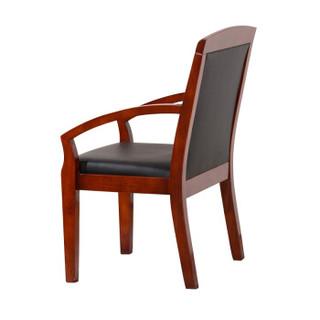 佐盛办公椅电脑椅实木皮革椅会议椅职员培训椅老板椅