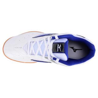 美津浓 乒乓球鞋男款女 美津侬龙超轻防滑乒乓球训练鞋 81GA153627 白蓝 39