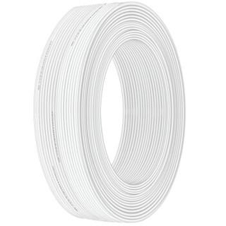 礼嘉 LJ-PX6801 皮线光纤光缆 室内自承式3.0单芯 1芯2钢丝 蝶形光缆 工程入户光纤线缆 白色 100米/卷