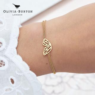 olivia burton简约时尚女手链蝴蝶翼翅膀玫瑰金送礼饰品礼物OBJ16EBB01
