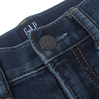 Gap旗舰店 男童 休闲弹力修身牛仔裤358229 深色水洗做旧 5