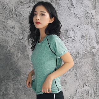 南极人 NanJiren 瑜伽服套装女修身显瘦健身服跑步运动服健身房运动套 高腰五件套绿 XL