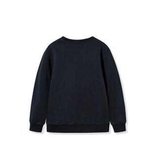361° 361度童装男童套头卫衣2019春季新品上衣时尚潮流印花长袖卫衣N51913302 碳黑 140