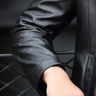 恒源祥海宁真皮皮衣男2018秋冬新款绵羊皮立领商务休闲皮夹克外套 黑色 XL/(175/96A)