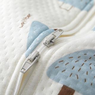 威尔贝鲁(WELLBER)婴儿睡袋宝宝可调节空气层儿童信封可脱袖防踢被子 小松树80cm