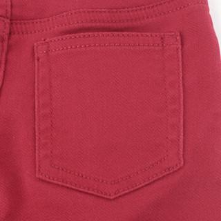 Gap旗舰店 男婴 水洗色修身松紧腰牛仔裤370442 亮红色 6-12M