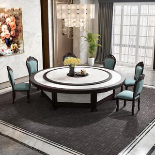 中伟(ZHONGWEI)餐桌餐厅大餐桌大理石台面餐桌直径1.8米定制款