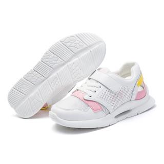 abckids童鞋 春季款男女童运动鞋中童透气轻便休闲儿童鞋子DP91330418 白/粉32码