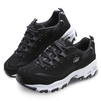 SKECHERS 斯凯奇 D'lites熊猫款 厚底时尚休闲鞋 11930 BLK 黑色 36