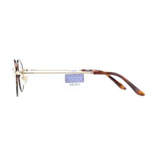 SEIKO精工 眼镜框男女款全框钛+板材复古眼镜架近视配镜光学镜架H03091 C01 48mm 玳瑁+金色