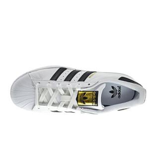 adidas 阿迪达斯 金标贝壳头 白色 经典男女同款 SUPERSTAR C77154/C77153 36