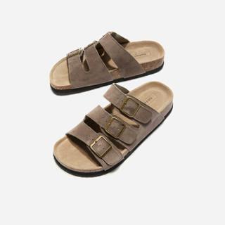 hotwind 热风 H60M9606男士时尚拖鞋 棕色