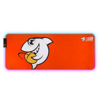 斗鱼(DOUYU.COM)DPL120 斗鱼幻彩RGB鼠标垫 可折叠 防滑底面 12种灯效 免驱即插即用 粉色鼠标垫