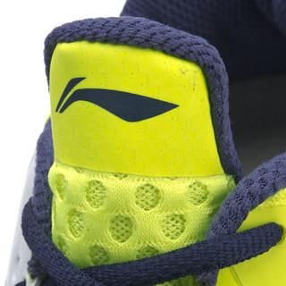 LI-NING 李宁 突袭SE男子缓震支撑羽毛球专业鞋 AYZP003-2 荧光亮绿/丝带蓝 41