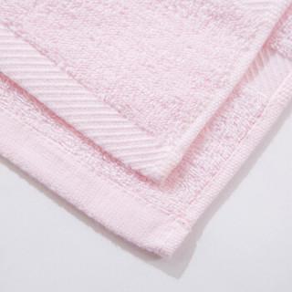 内野 UCHINO 毛巾 全棉 吸水 柔软 素雅绣字面巾 粉色