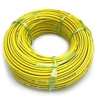 菊花 电线电缆ZR-BV16平方 国标阻燃单芯单股铜线 家装家用铜芯电线 100米 黄色