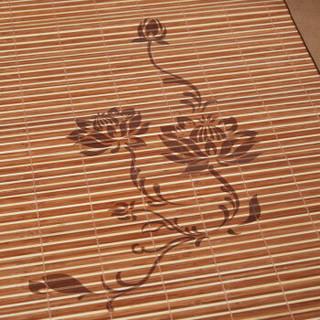 恒源祥 镜面竹席子烫花可折叠双面夏凉席空调席单件床上用品 秦风150*200cm