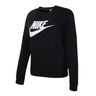 NIKE 耐克 女子 卫衣套头衫 AS W NSW RALLY CREW HBR 运动服 930906-010 黑色 L码