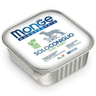 意大利进口 Monge 宠物狗粮 狗罐头 成犬湿粮 主食罐主粮 无谷肉食 兔肉 150g