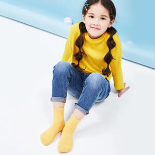 网易严选 儿童袜子纯色男童女童袜子运动透气袜子排汗透气春夏季袜子 3双装袜号18-20(建议6-8岁)