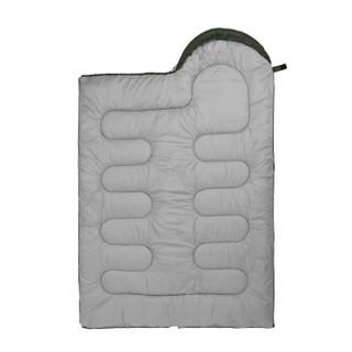 骆驼(CAMEL)户外旅行便携秋冬季加酒店厚防寒单人大人隔脏睡袋1.6kg A8W03003 橙拼灰右边