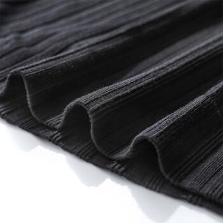Miiow 猫人 女士保暖内衣女半高领贴身优雅舒适聚热修身美体面膜打底衣保暖内衣可外穿薄款单件上衣MM065J2 黑色 均码