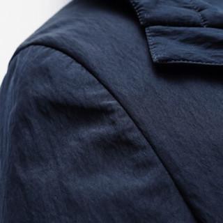 雅鹿男装 YALU UOMO风衣男2018秋季新款男士中长款风衣夹克外套18101 C03EQJA181011 藏青 190