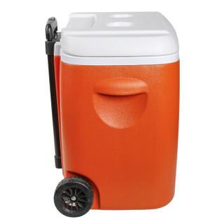欧宝森拉杆保温箱冷藏箱 车载家用便携式户外食品保鲜箱带轮子 38升 橘色 送冰板冰袋