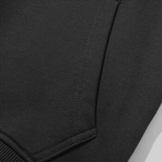 南极人(Nanjiren)卫衣女宽松百搭长袖上衣时尚连帽卡通印花卫衣 薄款黑色 S