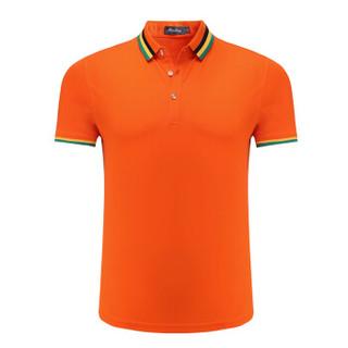 Lee Cooper    短袖POLO衫2019短袖潮流新款休闲翻领百搭打底衫 LZ-6118 桔红 2XL