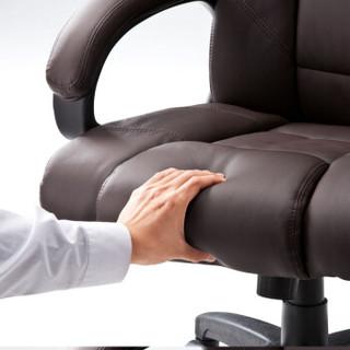 山业 电脑椅 办公皮椅 人体工学老板逍遥椅 升降转椅 棕色(100-SNC015BR)