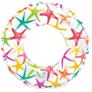 INTEX 59241流行浮圈充气游玩装备儿童泳圈救生圈游泳圈内径28cm 适合6-10岁 随机发